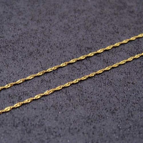 corrente de ouro 18k cingapura 45cm