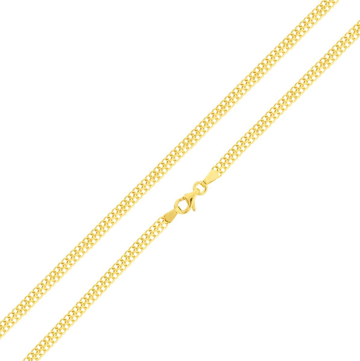 Corrente De Ouro 18k Feminina Malha Lacraia 45cm - R  782,40 em ... a509c7ec2a