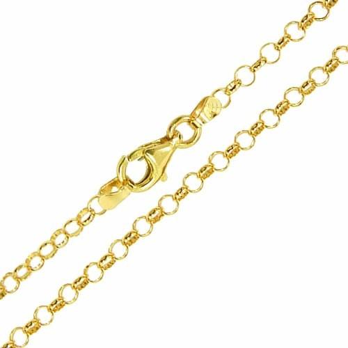 corrente de ouro amarelo 18k elo português 50 cm / 1.8mm
