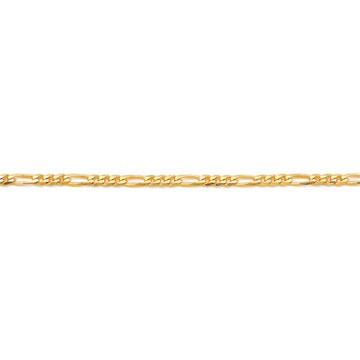 corrente de ouro amarelo 18k groumet 4x1 60 cm / 3 mm
