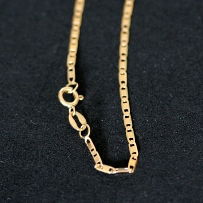 corrente de ouro amarelo 18k piastrine brilhante 45 cm / 2.