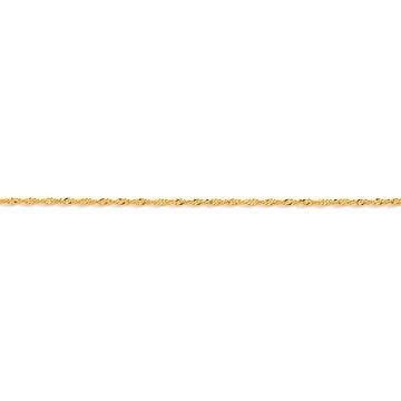 corrente de ouro amarelo 18k singapura 45 cm / 1.8mm