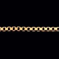 corrente de ouro amarelo 18k veneziana  45 cm / 0.5mm