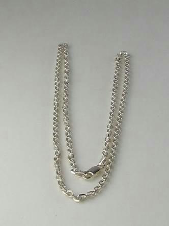 corrente de prata 925 60 cm(brinde brinco de prata infantil)
