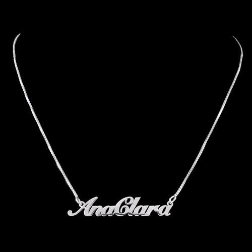 corrente de prata 925 com nome personalizado colar feminino