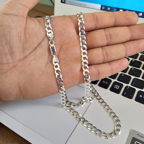 corrente de prata 925 masculino grossa grumet 7mm escam 70cm