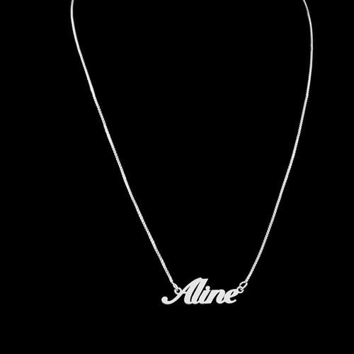 corrente de prata feminino personalizado com nome veneziana