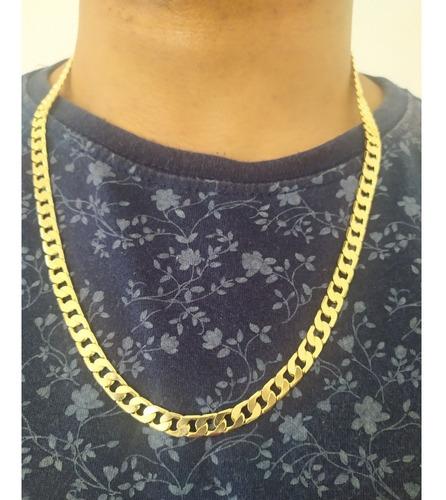 corrente dourada masculina qmaximo com garantia - qm14c