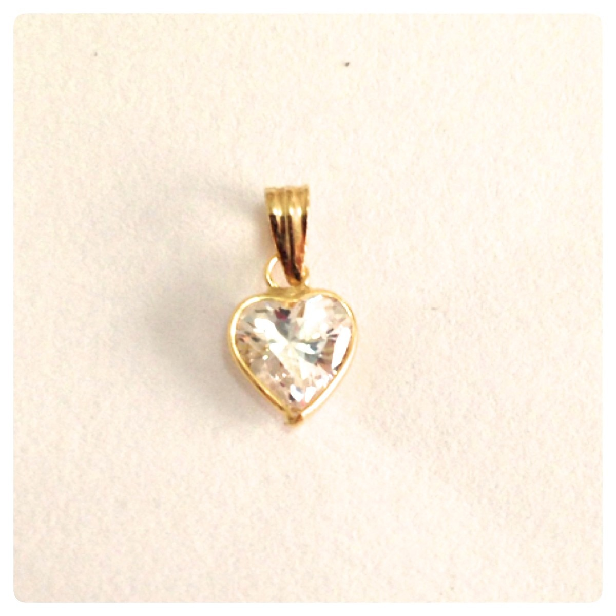 corrente e pingente ponto de luz coração de ouro 18k maciço. Carregando  zoom. 0579dafa28