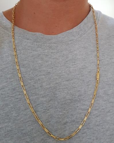 corrente e pulseira 10 banhos de ouro 18k - cor original 18k