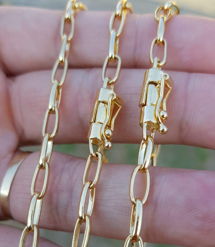 a676c9981bb corrente e pulseira banhada a ouro 18k com 10 banhos. Carregando zoom.