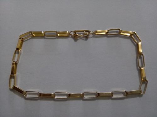 corrente e pulseira ouro 18k 750 16 gr