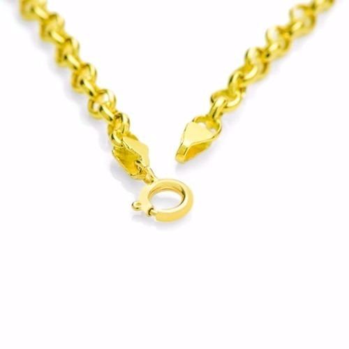 corrente elo portugues feminina em ouro 18k