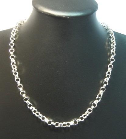corrente elo português grosso prata de lei 925 - di grande