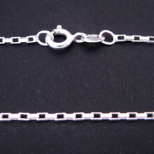 corrente elos de prata 925 - 50 cm