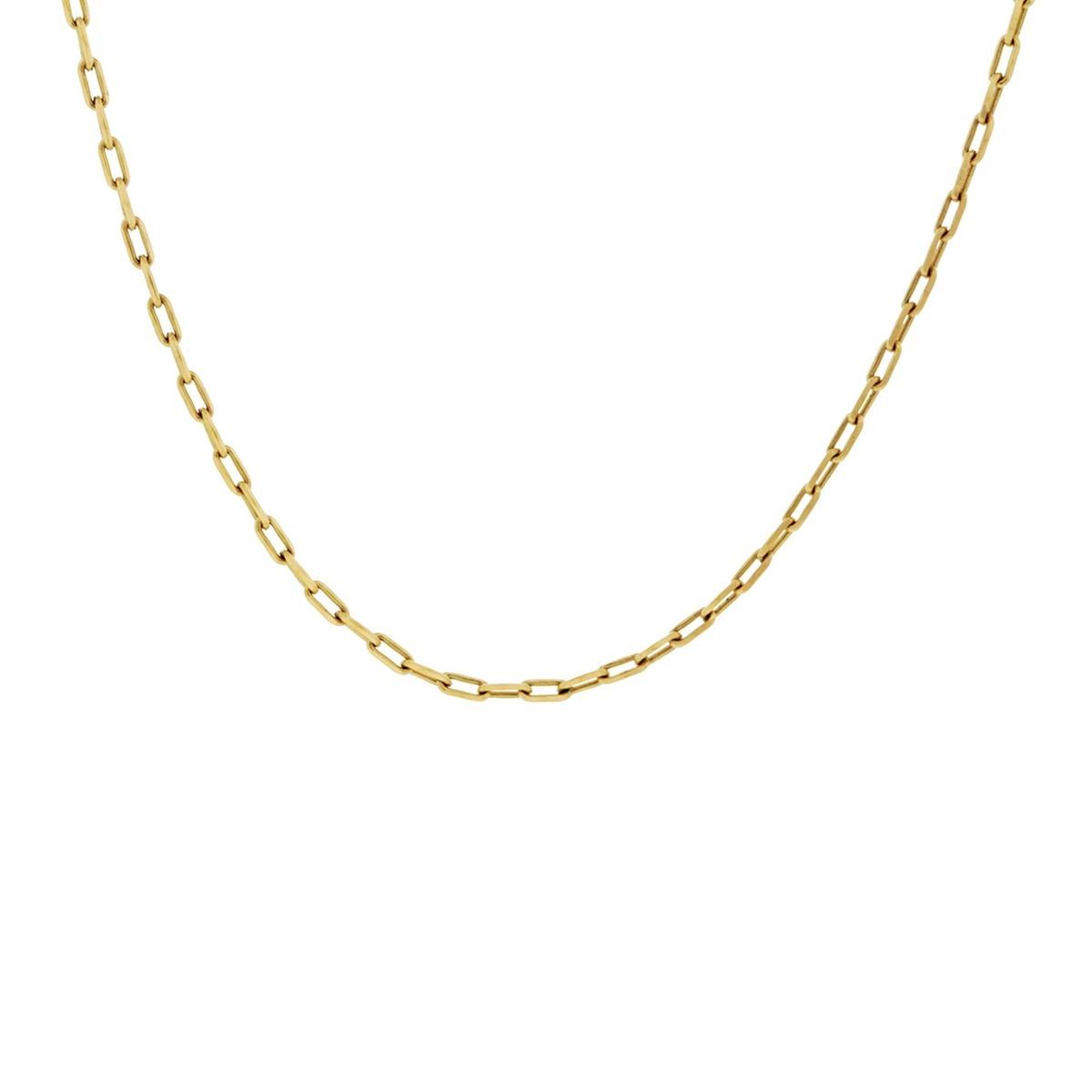 4d9dcf6b2d2 Corrente Em Ouro 18 Quilates Modelo Cartier Fina De 60cm - R  389