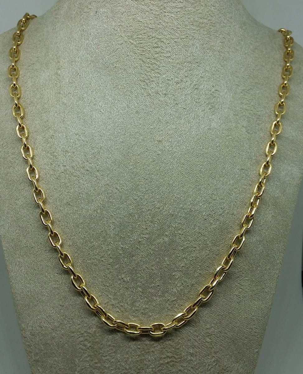 d85c7015205 corrente em ouro 18k cordao cartier cadeado 5mm 60cm. Carregando zoom.
