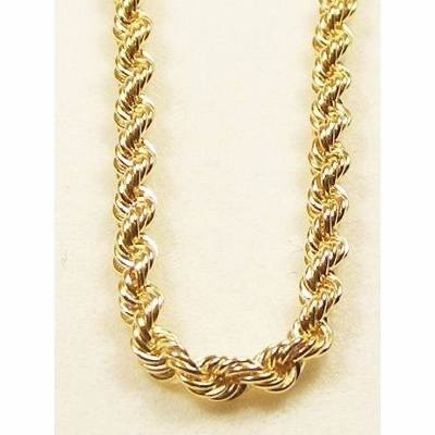 corrente em ouro 18k cordão baiano 45cm