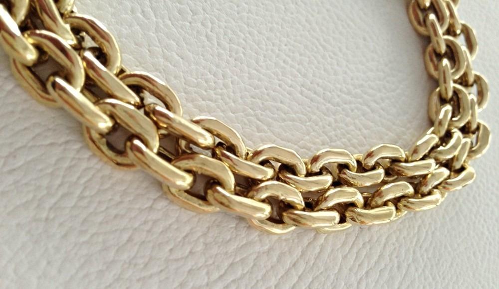 ab734bdc08c corrente em ouro 18k grossa cadeado promoção á vista. Carregando zoom.