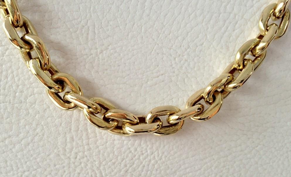 146b932cf corrente em ouro 18k grossa cadeado promoção á vista. Carregando zoom.
