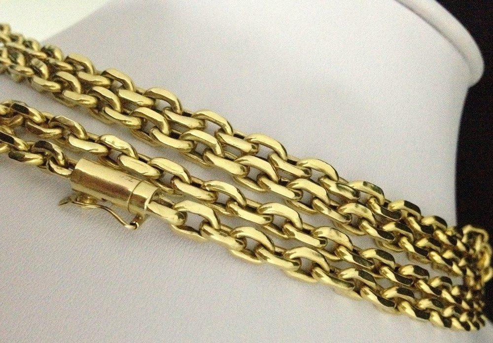 3dc973d7882 Corrente Em Ouro Cartier 18k 750 Modelo Cadeado Grossa R. Corrente Em Ouro  Cartier. Cordão Corrente Cartier 70cm ...