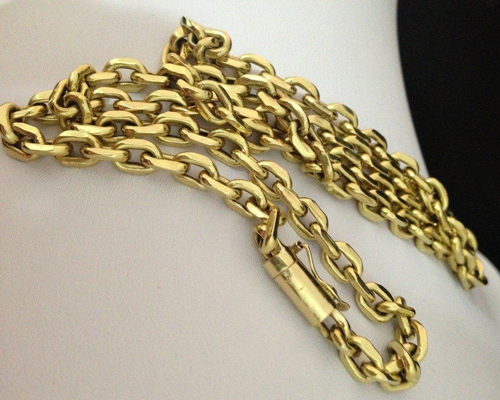 f5d60ceba69 corrente em ouro cartier 18k 750 modelo cadeado promoção. Carregando zoom.