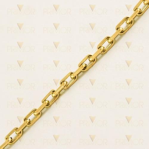corrente em ouro malha cartier maciça de 3mm e 60cm cr008