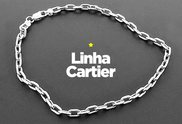 70691812306 Corrente Em Prata 925 Masculina Mod Cartier - R  190