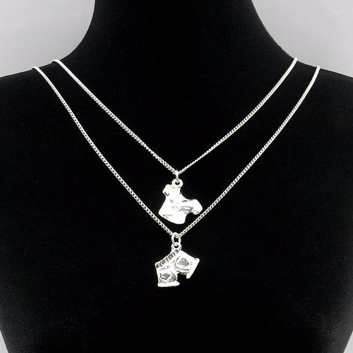 corrente feminina 45cm blusa bermuda folheada prata gg165