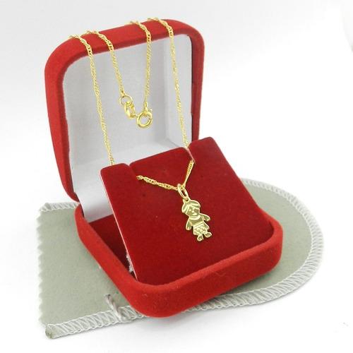 corrente feminina 50cm 1mm + menino folheada ouro cr390