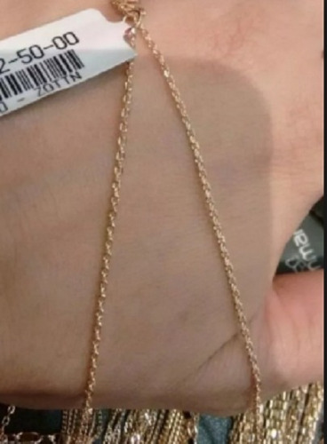 corrente feminina fio cadeado rommanel 530431 42 cm