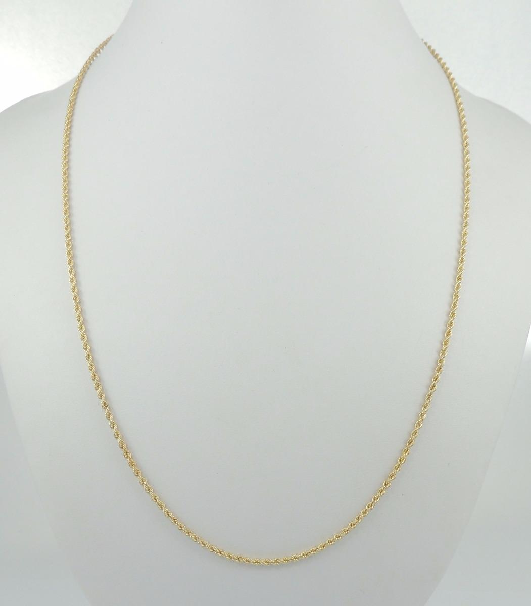 21cf8e2402038 corrente feminina gargantilha corda 50 cm ouro 18k 750 colar. Carregando  zoom.