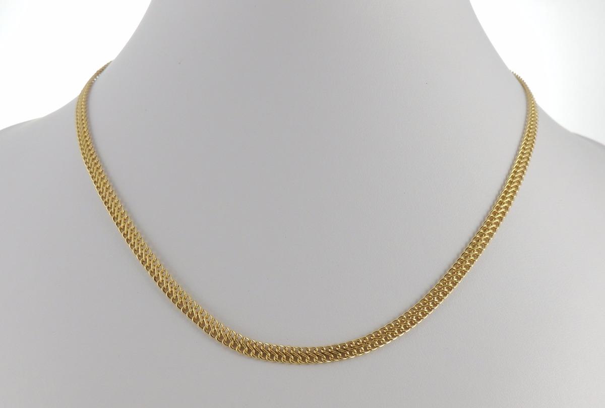 64a61b1426bab corrente feminina grumet lacraia 45cm ouro 18k gargantilha. Carregando zoom.