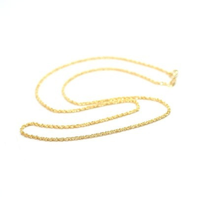 corrente folheado a ouro 50cm / 3.0mm