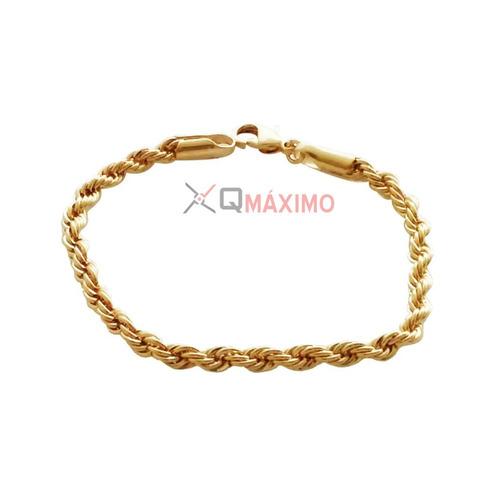 corrente folheado a ouro +pulseira masculina + pingente rm17