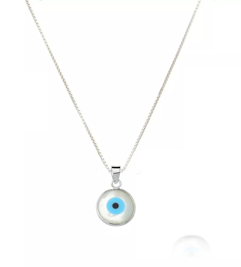 aecfe7077008b corrente gargantilha com pingente olho grego azul prata 925. Carregando  zoom.