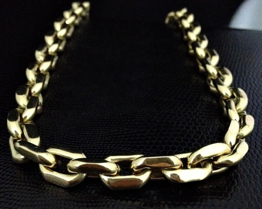 f493d8eb81c corrente grossa em ouro 18k 750 modelo cartier cadeado luxo. Carregando  zoom.