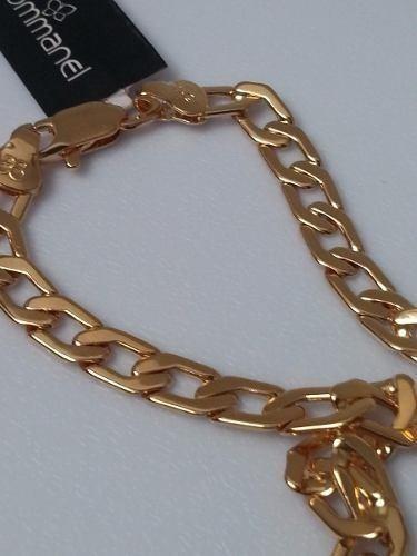 corrente grossa rommanel masculino folheado ouro 18k 531263
