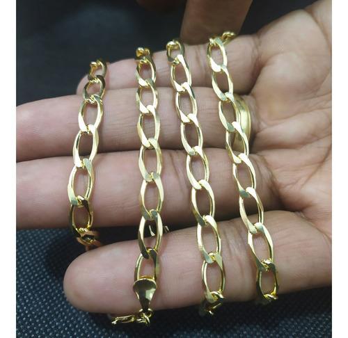 corrente grumet cordao banhado a ouro 60 cm com nota fiscal