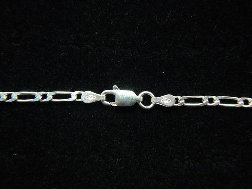 corrente grumet dif. 1x1 c 60 cm prata de lei 925 c00006