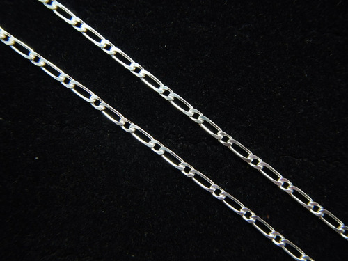 corrente grumet diferenciado 1x1 c 60 cm prata de lei 925