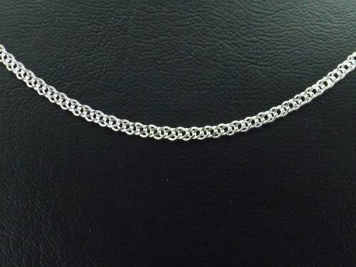 corrente grumet dupla prata 925 60 cm 3mm 8grs