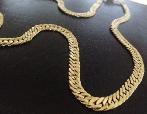 corrente grumet duplo em ouro 18k 20 gramas promoção