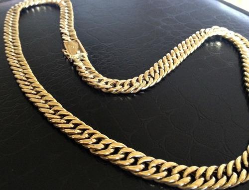 corrente grumet duplo em ouro 18k 30 gramas promoção