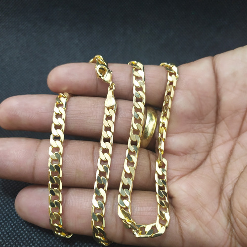 corrente grumet importada diamantada 5mm - 60cm com nf