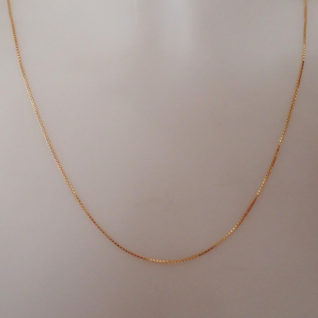 corrente italiana joia ouro 18k de 50 cm ou 60 cm veneziana. Carregando  zoom. 744a9b5c88