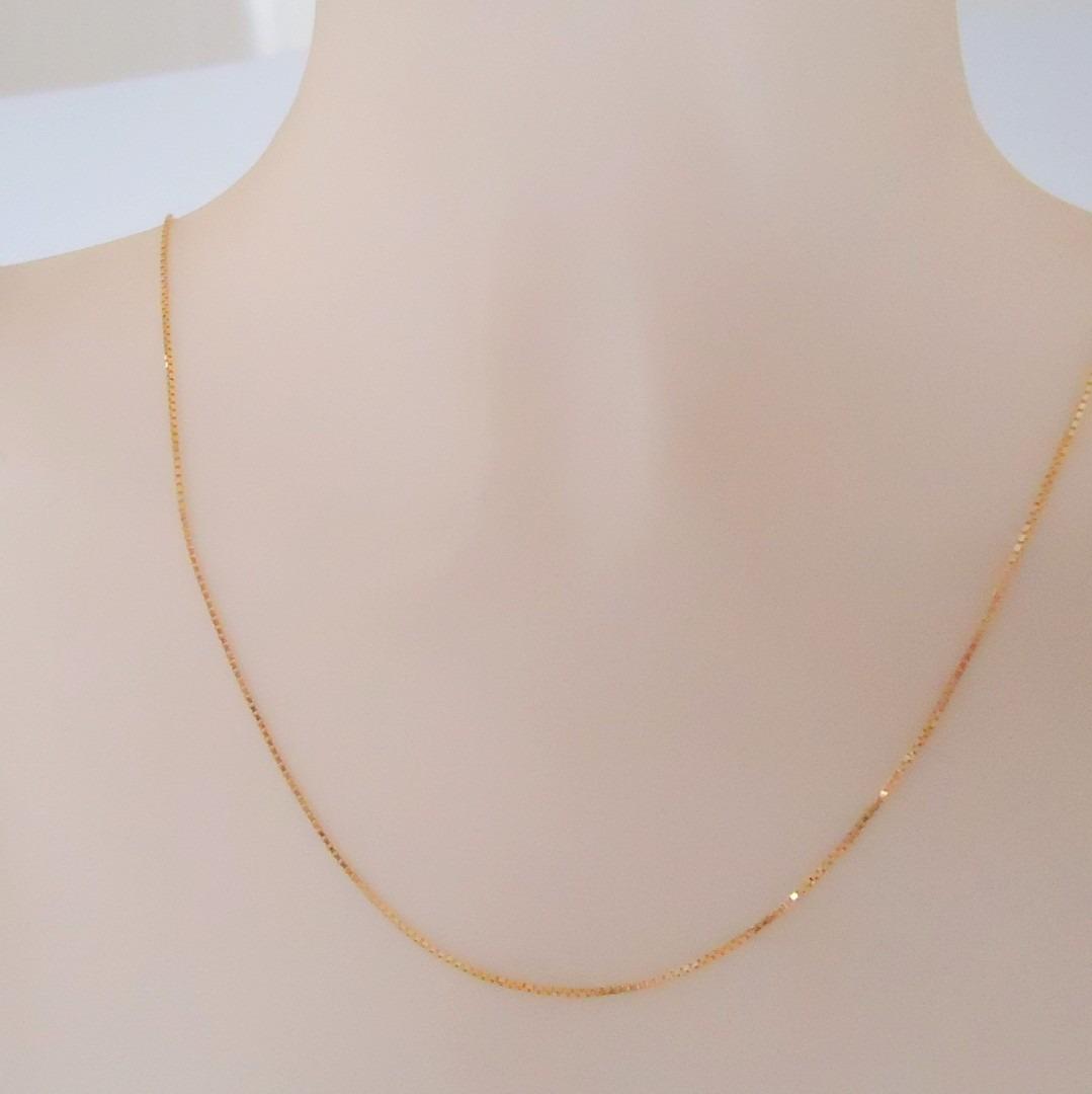 corrente italiana veneziana joia ouro 18k de 50 cm ou 60 cm. Carregando  zoom. 763753d688