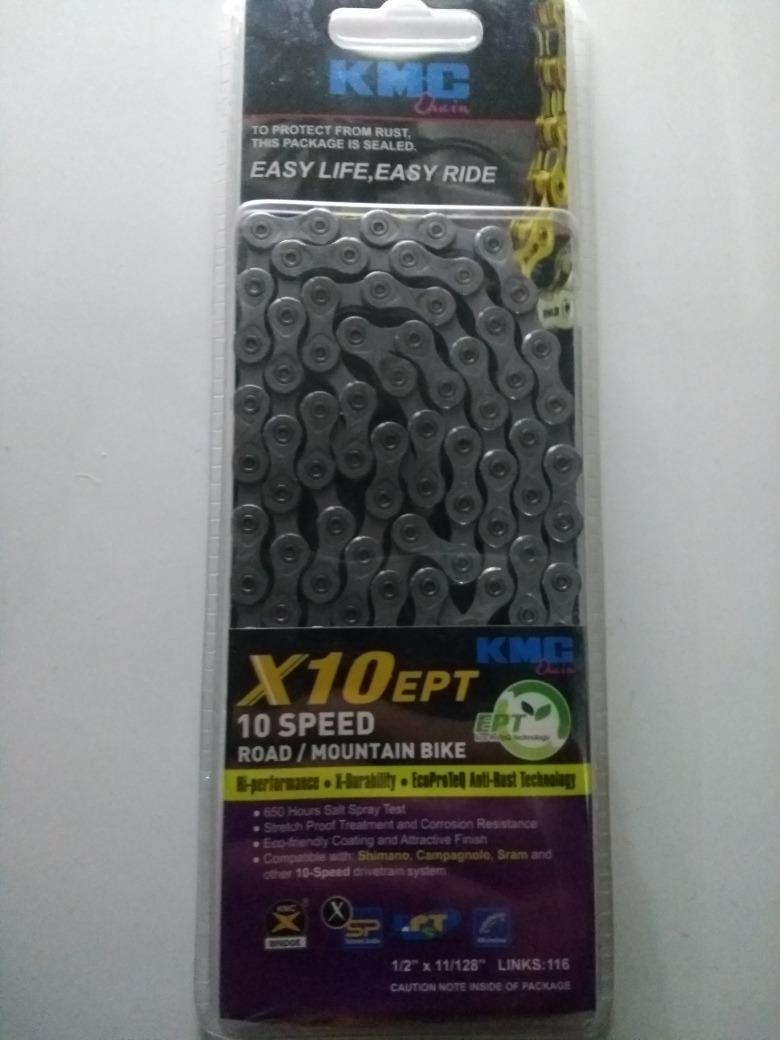 Kmc X10 Chain Kmc 1//2x11//128 X10 Ept 10s 116l