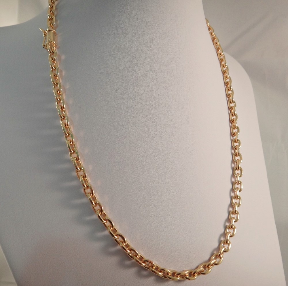 c0722972e corrente maciça cadeado em ouro 18k 750 italiana promoção. Carregando zoom.