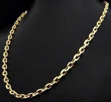 corrente maciça modelo cartier ouro 18k com 60 cm 18 gramas